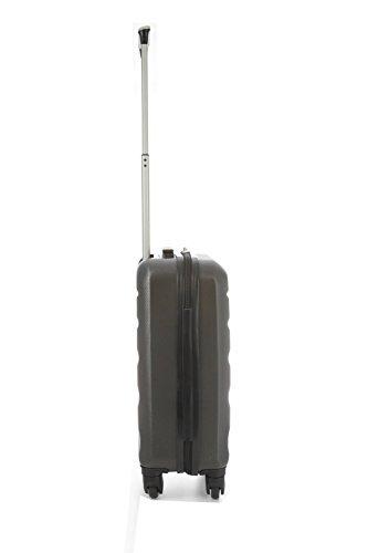 Aerolite 4-Rollen Hartschale Superleichtgewicht Bordgepäck Handgepäck Kabinentrolley Reisekoffer Trolley Gepäck - Geeignet Für Lufthansa, AirBerlin, Easyjet, Ryanair, AirFrance (55 cm, Kohlengrau) -