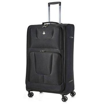 Aerolite 8-Rad Große Leichtgewicht Reisekoffer Trolley Gepäck Koffer Schwarz -