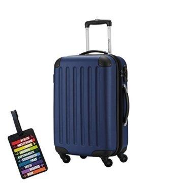SALE% HAUPTSTADTKOFFER® Hartschalen Koffer SPREE 1203 · 3 Koffergrößen (49Liter · 82Liter · 128Liter) · MATT · TSA Zahlenschloss · + KOFFERANHÄNGER (Handgepäck (49 Liter), Dunkelblau) -