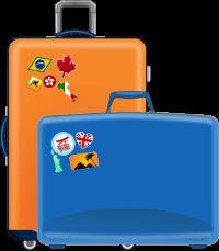 Trolley und Koffer