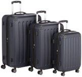HAUPTSTADTKOFFER - Spree - 3er Koffer-Set Trolley-Set Rollkoffer Reisekoffer, TSA, (S, M & L), Dunkelblau -
