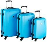 HAUPTSTADTKOFFER - Wedding - 3er Koffer-Set Trolley-Set Hartschalen-Koffer Rollkoffer Reisekoffer, TSA, (S, M & L), Cyanblau -