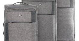 Ferge Weichschalenkoffer Set in grau